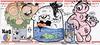 Fish Tanked! (Question Josh? - SB/DSK) Tags: sticker stickers slaps collaboration label228 markers cartoon josh fish fishtank