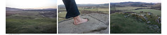 A view, a footprint and a hill fort (AJ Mitchell) Tags: dunadd celtickingdoms hillfort petroglyph rockcarving medieval ironage bronzeage venushill argyll scotland uk britishisles ajmitchell