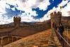 Manzanares el real castle (Lucien Schilling) Tags: stone castle sunset old manzanareselreal comunidaddemadrid spain es