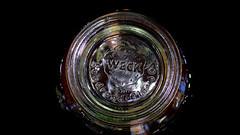 Circles in the glass (karinrogmann) Tags: macromondays april9 circles kreise jarofjam marmeladenglas