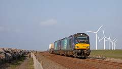 Electric Fans (Richie B.) Tags: 6m23 siddick cumbria drs direct rail services vossloh caterpillar stadler class 88 88002 88010 nuclear flask fna