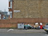 Loitering within tent (roadscum) Tags: england essex barking faircrossavenue rubbish dumped blackbags fence wall house