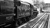 Pennine Limited II (_J @BRX) Tags: londonmidlandandscottishrailway lms jubilee class 5699 br 45699 galatea preserved steam locomotive crimson brighouse yorkshire england uk winter 2018 penninelimited railtour mainline 6p maroon 1z46 sheffield blackburn bw blackandwhite