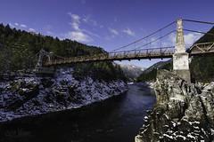 A Bridge to the Past (wilbias) Tags: bridge river footbridge suspension railway bridging flowing water alexandra provincial park fraser spuzzum bc british columbia canada old blue sky winter february