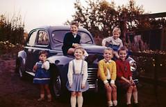 Cousins (VanveenJF) Tags: peugeot 203 car hattem gelderland nederland holland scan old family