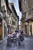 Street dinner (Jan Kranendonk) Tags: florence firenze italy italian europe street people dinner eating city town food hdr