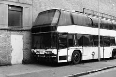 Scrap Coach, Portslade 2017 (sparetimedesign) Tags: iso1600 50mm analog transport banal sussex monochrome decay mundane streetphotography 35mmfilm trix400 nikonfa film kodak