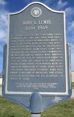 John L. Lewis Marker (Lucas, Iowa) (courthouselover) Tags: iowa ia lucascounty lucas iowahistoricalmarkers johnllewis johnllewellynlewis