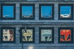 Odd Reflections (freyavev) Tags: reflections windows facade architecture building urban urbandetails reflection canon canon700d telelens stuttgart rathaus cityhall germany deutschland mikasniftyfifty vsco outdoor