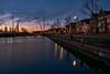 Eemhaven Amersfoort (Dannis van der Heiden) Tags: eem river eemhaven harbor bridge water tree sunrise sky streetlight house building dock reflection d750 boat nikond750 tokina1628mmf28