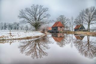 Oelermolen in de winter