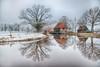 Oelermolen in de winter (Peter Zendman Enschede) Tags: hengelo korenmolen landschap molen oelermolen reflecie sneeuw water weerkaatsing winter winterlandschap overijssel netherlands nl