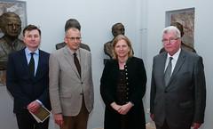Außenministerin Karin Kneissl hält einen Vortrag über die Rückkehr der Geographie an der Slowenischen Akademie der Wissenschaften