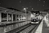 Snow at Denver Union Station (Christopher J May) Tags: denver colorado denverunionstation snow winter amtrak winterparkexpress train railroad bw blackandwhite monochrome nikond800 tamronsp2040mmf2735