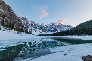 Moraine Lake at Sunset