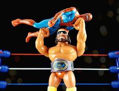 freakshow (aka_patch) Tags: wwf wrestling machoman bonesaw randysavage spiderman humanspider marvel