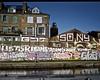 Regents Canal (I M Roberts) Tags: regentscanal hackney eastlondon urbansetting urbanart graffiti mamiya7 portra400