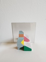 Untitled Composition with Blocks (g̣̃ŗẹ̃g̣̃ ̣̃̃̃ḅ̃ị̃cḥẹ́̃) Tags: paint painting wood acrylic sculpture abstract