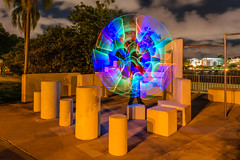 Parkour Park III (stephenk1977) Tags: australia queensland qld brisbane nikon d3300 night springhill light painting art photography concentrate c5 threeworlds led rgb unit brushes sword colour changing