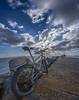 DSC_8681-WideMTBSunset (RobNDub) Tags: ultrawideangle wideangle graffiti dublin pool beg lighthouse sea rock sunset mountain bike poolbeg