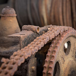 Rusting parts of old fishing boat winch thumbnail