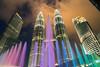 Petronas towers (skweeky ツ) Tags: kuala lumpur kl malaysia malaisie petronas towers tours color colour colourful fountain long exposures night cloud cloudy move
