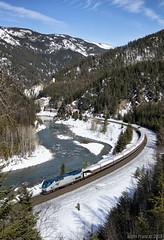 Talgo heading home (Justin Franz) Tags: amtrak montana bnsfrailway transportation trains
