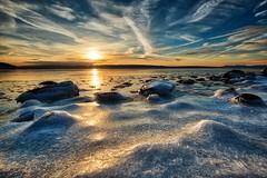 Bunnefjorden, Norway (Vest der ute) Tags: xt2 sea seascape ice water winterscape sky clouds rocks snow fav25 fav200