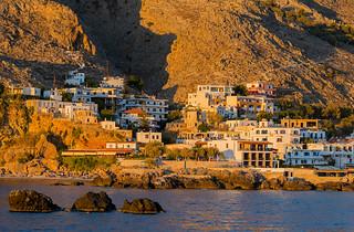 The town Chora Sfakion in Crete