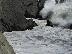 Marin County, CA, Golden Gate National Recreation Area, Point Bonita Lighthouse, Wave Action (Mary Warren 10.5+ Million Views) Tags: marincountyca pointbonitalighthouse seascape pacificocean sea water waves rocks nature