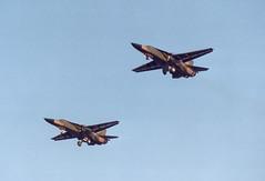 F-111E 68-0077 plus 1 UH  77FS 20FW (spbullimore) Tags: f111 f111e aardvaak 680077 uh upper heyford 77th fighter squadron 77fs 20th wing 20fw raf lakenheath 1992 usa us air force