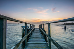 Sunset from Lake pier 03.04.18 (R M Photography) Tags: hamworthy lakepier sunset tokina tokina1116 tokina1116mm water clouds nikon d3300 inspiredbylove calmwater boat boats cloud