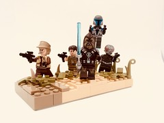 Anarchists (Jeklarr) Tags: mandalorian wookiee jedi trooper scene vignette moc lego anarchist rebel