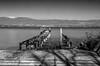Le rail prend l'eau (paul.porral) Tags: poselongue longexposure monochrome noiretblanc blackandwhite nb lake lacléman léman landscape landschaft view water bw bnw ngc nature flickr