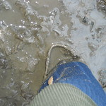 135 - AIGLE Wellworn Wellies filled with mud ( Rubberboots Gummistiefel Laarzen thumbnail