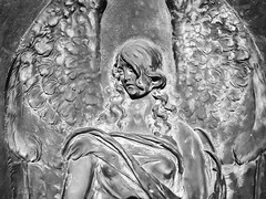 Someone I Once Knew (Thomas Hawk) Tags: america california eastbay mountainviewcemetery oakland usa unitedstates unitedstatesofamerica angel bw cemetery us fav10 fav25