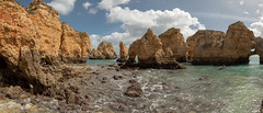 Cliffs near Lagos, Algarve, Portugal (jonshort58) Tags: 2018 portugal algarve march lagos faroldapontadapiedade cliffs weathered sandstone panorama lightroom