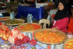 At The Market (Alan1954) Tags: malaysia market kotakinabalu holiday 2018 woman vendor colours spices chillies asia