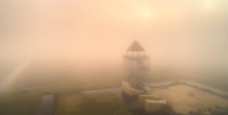 't Huys te Nuwendore in the mist.
