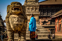 Lady from Nepal (tehhanlin) Tags: nepal kathmandu thamel temple people place hindu sony ngc landscape sunrise sunset praying religion