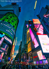 Times Square, New York City (AreKev) Tags: timessquare times square billboards advertisements digitalscreens neon lights night broadway theater theaterdistrict midtown midtownmanhattan manhattan newyork newyorkcity nyc america usa unitedstates unitedstatesofamerica nikond7100 nikon d7100 sigma 1020mm 1020mmf456exdchsm hdr aurorahdr aurorahdr2018