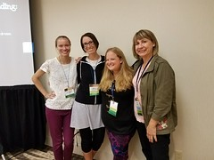 "Christie with Yorkville Teachers at the Illinois Reading Conference • <a style=""font-size:0.8em;"" href=""http://www.flickr.com/photos/109120354@N07/26049608807/"" target=""_blank"">View on Flickr</a>"