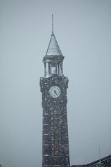 Snow falls on the Hoboken Terminal Clock Tower as a nor'easter rolls through Hoboken on March 21, 2018. (apardavila) Tags: erielackawannaterminalclocktower hoboken hobokenterminalclocktower noreaster noreasterstorm snow snowstorm storm weather