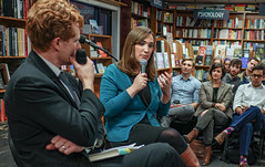 2018.03.20 Sarah McBride and Rep Joe Kennedy, Politics and Prose, Washington, DC USA 4114