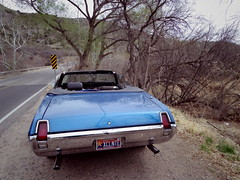Cutlass at Oak Creek, bridge at Page Springs (EllenJo) Tags: pentaxqs1 march25 2018 verdevalley arizona ellenjo cutlass oakcreek pagespringsroad bridge pagesprings az xclnte