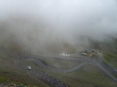 Col de Galibier (Charli 49) Tags: motorrradtour alpen alpenpass col du galibier honda pan european st1300 landschaft nebel landstrase wolken charli