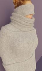 Fluffydoll111 (Triss Meredith) Tags: misstriss fluffydoll wool angora mohair scarf turtleneck sweater