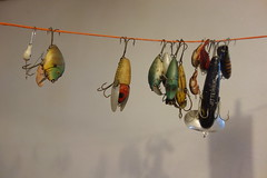 Lure Line (ricko) Tags: line rope lures fishinglures hanging nedshouse jitterbug