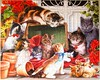 Garden Cats (Leonisha) Tags: puzzle jigsawpuzzle cats chats katzen kätzchen kittens
