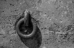 Almost Got It! Abstract #10 ©2017 Steven Karp (kartofish) Tags: california sanfrancisco bakerbeach abstract fujifilm xt2 monochrome blackandwhite ironring abandoned minimalist texture contrast gunemplacement gunbattery batterychamberlin fortwinfieldscott